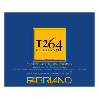 Fabriano 1264 Sketch Pad 14X17 100 Sheets
