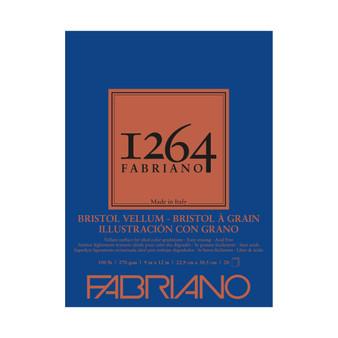 Fabriano 1264 Bristol Vellum Pad 9X12 20 Sheets