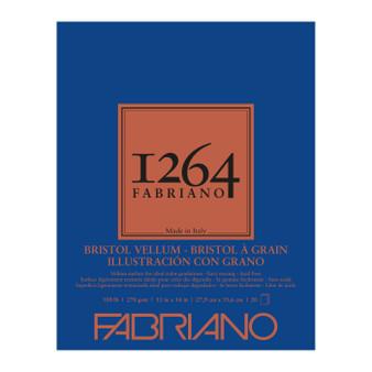 Fabriano 1264 Bristol Vellum Pad 11X14 20 Sheets