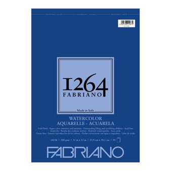Fabriano 1264 Watercolor Wirebound Pad 140lb Cold Press 11X15 30 Sheets