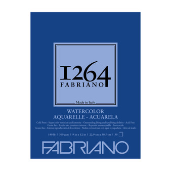 Fabriano 1264 Watercolor Pad 140lb Cold Press 9X12 30 Sheets