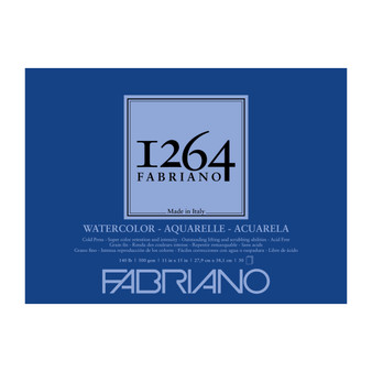 Fabriano 1264 Watercolor Pad 140lb Cold Press 11X15 30 Sheets