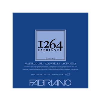 Fabriano 1264 Watercolor Pad 140lb Cold Press 8X8 30 Sheets
