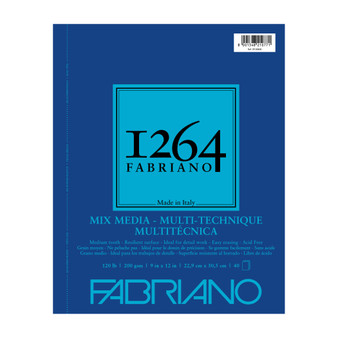 Fabriano 1264 Mixed Media Wirebound 120lb 9X12 40 Sheets
