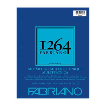 Fabriano 1264 Mixed Media Wirebound 120lb 9X12 40 Sheets