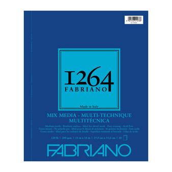 Fabriano 1264 Mixed Media Wirebound 120lb 11X14 40 Sheets