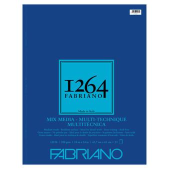 Fabriano 1264 Mixed Media Wirebound 120lb 18X24 25 Sheets