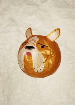 "Japanese Paper Place Paper Balloon 5"" Bulldog"