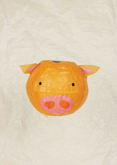 "Japanese Paper Place Paper Balloon 5"" Pig"