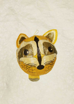 """Japanese Paper Place Paper Balloon 5"""" Raccoon"""