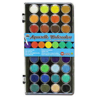 Yasutomo Niji 36-Color Aquarelle Watercolor Set