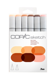 Copic Sketch Marker 6-Color Set Skin Tones