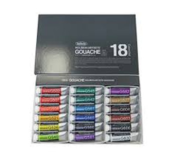 Holbein Artist Designer Gouache Set of 18 15ml Tubes
