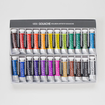 Holbein Artist Designer Gouache Set of 24 15ml Tubes