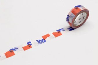 MT Washi Tape Patch Pattern Blue/Orange