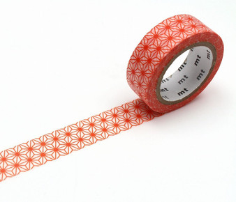 MT Washi Tape Red Star (asanoha akadaidai)