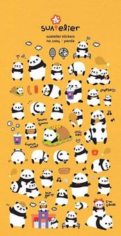 BC Mini Stickers Puffy Pandas