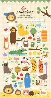 BC Mini Stickers Puffy Animal Farm