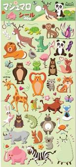 BC Mini Stickers Puffy Wild Animals
