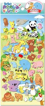 BC Mini Stickers Puffy Animals