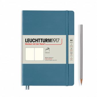 Leuchtturm 1917 Hardcover Medium A5 Blank Rising Color Stone Blue