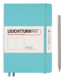 Leuchtturm 1917 Hardcover Medium A5 Blank Rising Color Aquamarine