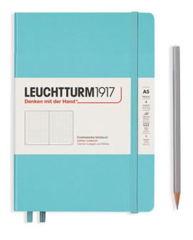 Leuchtturm 1917 Hardcover Medium A5 Dotted Rising Color Aquamarine