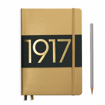 Leuchtturm 1917 Medium A5 Blank Metallic Gold