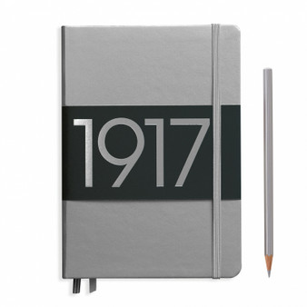 Leuchtturm 1917 Medium A5 Blank Metallic Silver