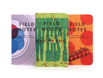 "Field Notes United States of Letterpress Limited Edition - Pack A 3.5X5.5"" 3 Pocket Grid"