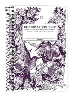 Michael Rogers Press Decomposition Book Coil Pocket Sized Ruled Hummingbird