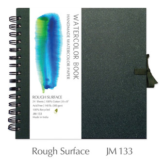 Shizen Design Rough Watercolor 8X8 Spiral Bound Journal
