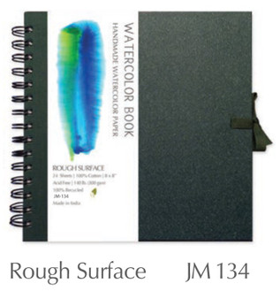 Shizen Design Rough Watercolor 6X6 Spiral Bound Journal