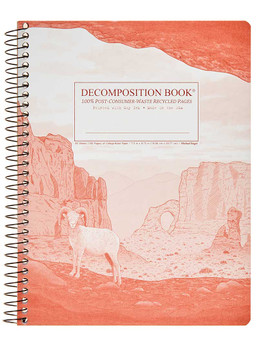 Michael Roger Press Decomposition Spiral Bound Ruled Notebook Moab