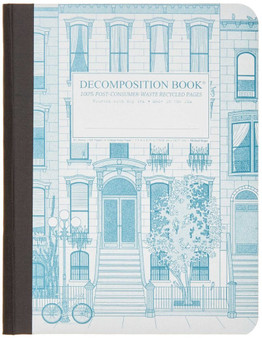 Michael Roger Press Decomposition Tape Bound Ruled Notebook Brownstone