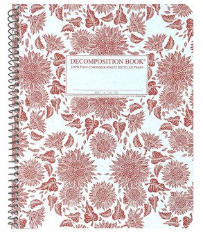 Michael Roger Press Decomposition XL Spiralbound Ruled Notebook Sunflowers