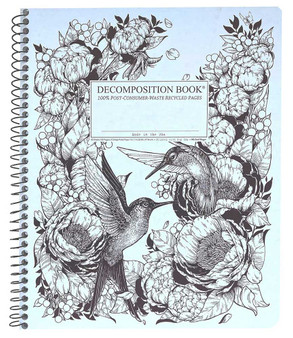 Michael Roger Press Decomposition XL Spiralbound Ruled Notebook Hummingbirds