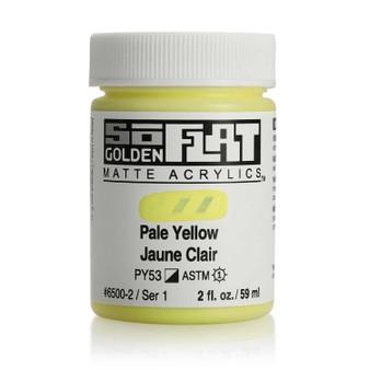 Golden SoFlat Matte Acrylic Paint 2oz Pale Yellow