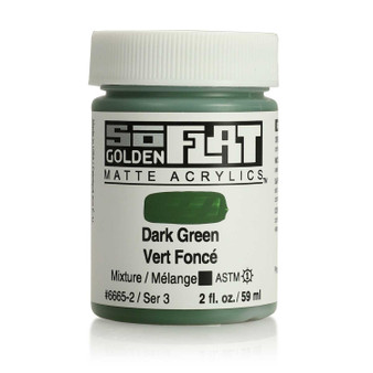 Golden SoFlat Matte Acrylic Paint 2oz Dark Green
