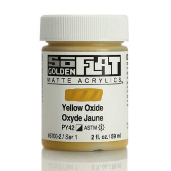 Golden SoFlat Matte Acrylic Paint 2oz Yellow Oxide