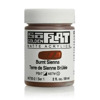 Golden SoFlat Matte Acrylic Paint 2oz Burnt Sienna