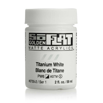 Golden SoFlat Matte Acrylic Paint 2oz Titanium White