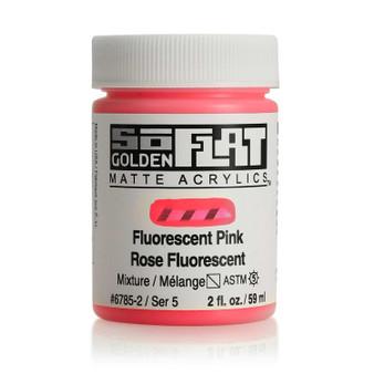 Golden SoFlat Matte Acrylic Paint 2oz Fluorescent Pink