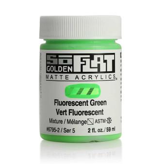 Golden SoFlat Matte Acrylic Paint 2oz Fluorescent Green