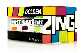Golden SoFlat Matte Acrylic Paint 2oz Zing Set of 6