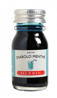 J. Herbin Fountain Pen Ink 10ml Diablo Menthe