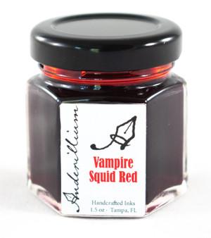 Anderillium Fountain Pen Ink Bottle 1.5oz Vampire Squid Red