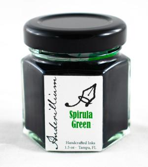 Anderillium Fountain Pen Ink Bottle 1.5oz Spirula Green