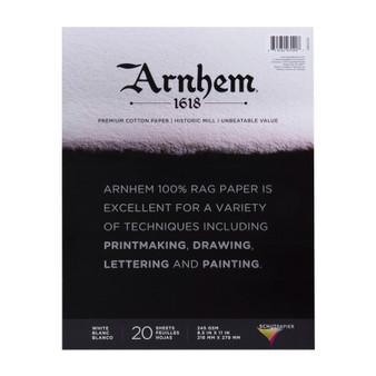 """Speedball Arnhem 1618 Paper Pad 8.5X11"""" 20 Sheets"""
