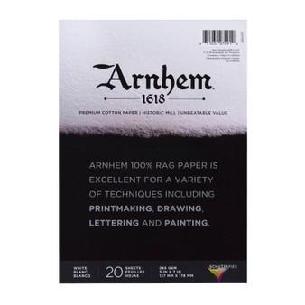 """Speedball Arnhem 1618 Paper Pad 5X7"""" 20 Sheets"""